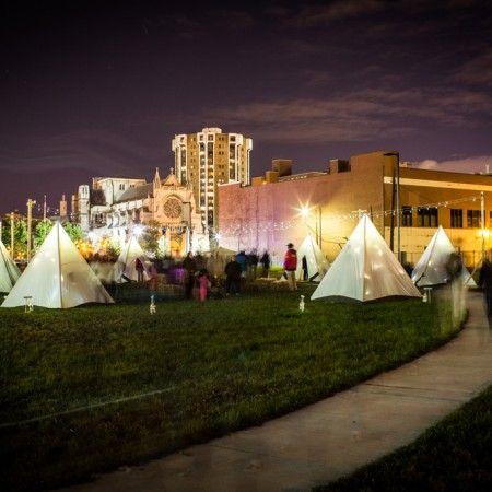 Frontier Town: A Tent Camp for Children in the Urban Wild, DLECTRICITY 2012