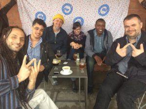 WAWAD Team Photo From the left: George Rahme, Mechanic Sean Maxwell, Social Media Chido Johnson, Mechanic Ana Ćuković, Chair Rudloff Matsika, Treasurer Goran Butorac, Creative Director