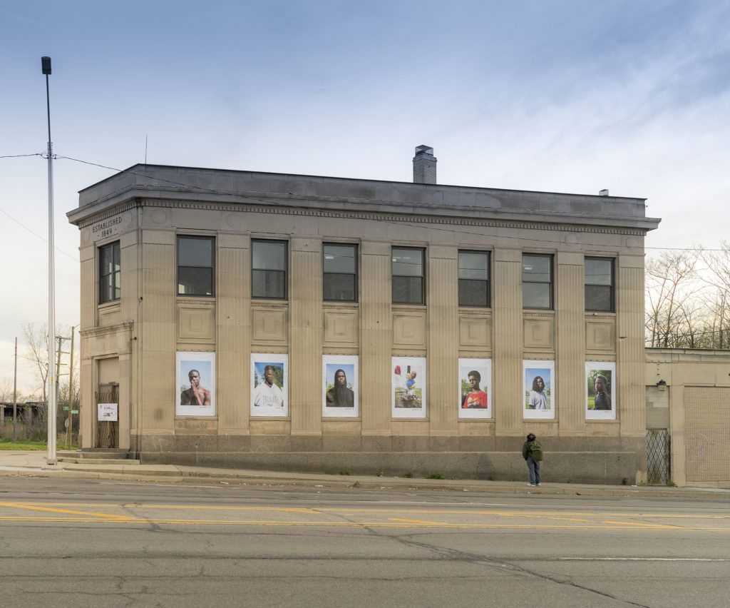 A Documenting DETROIT Installation featuring the work of Cydni Elledge (pictured) and Steve Koss, at Grand On River arts space in Core City, Detroit MI.