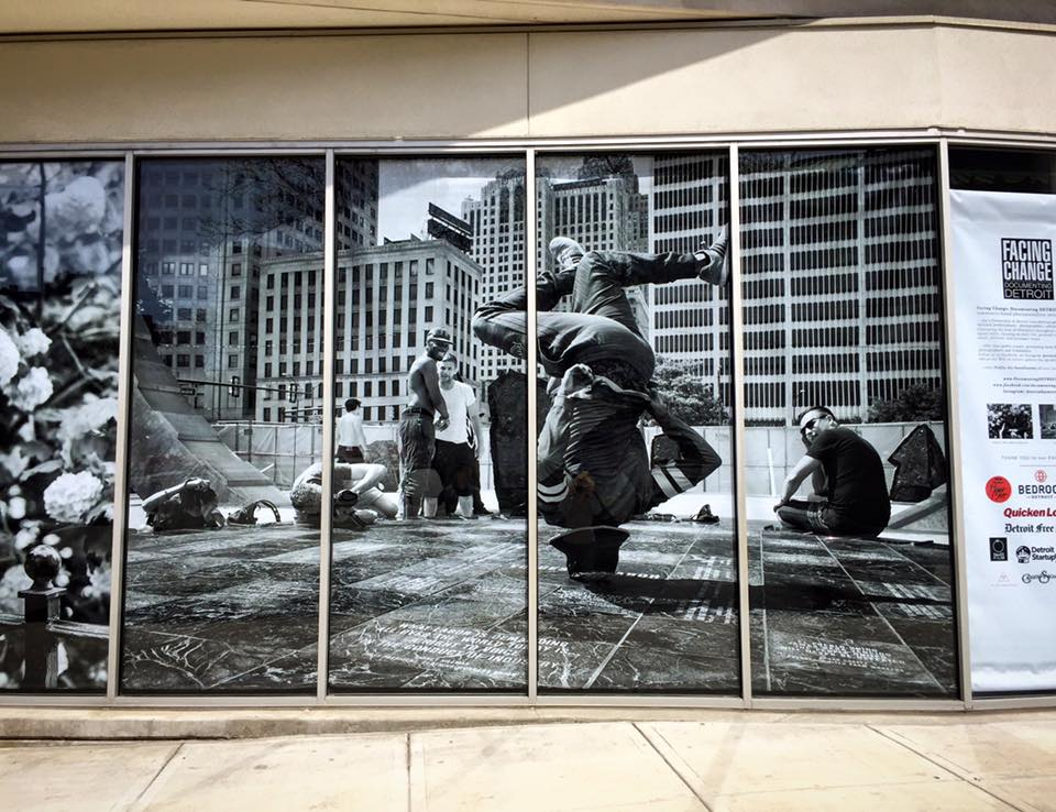 A Documenting DETROIT Installation featuring the work of Brian Day (pictured), Rosa Maria Zamarron, Felicia Tolbert, and Justin Milhouse.