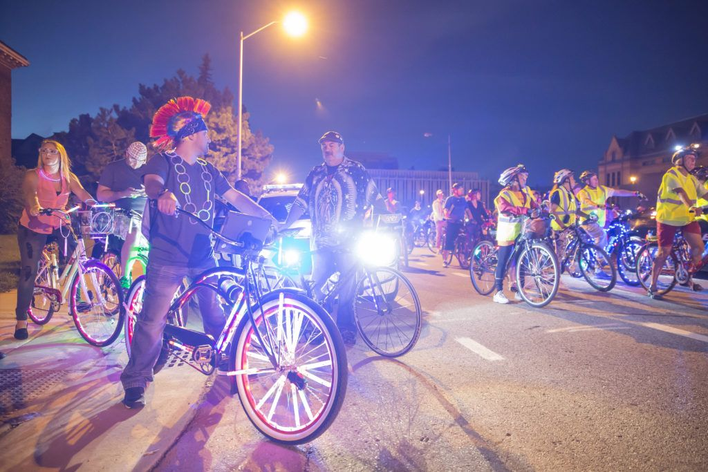 DLECTRICITY LIGHT BIKE PARADE