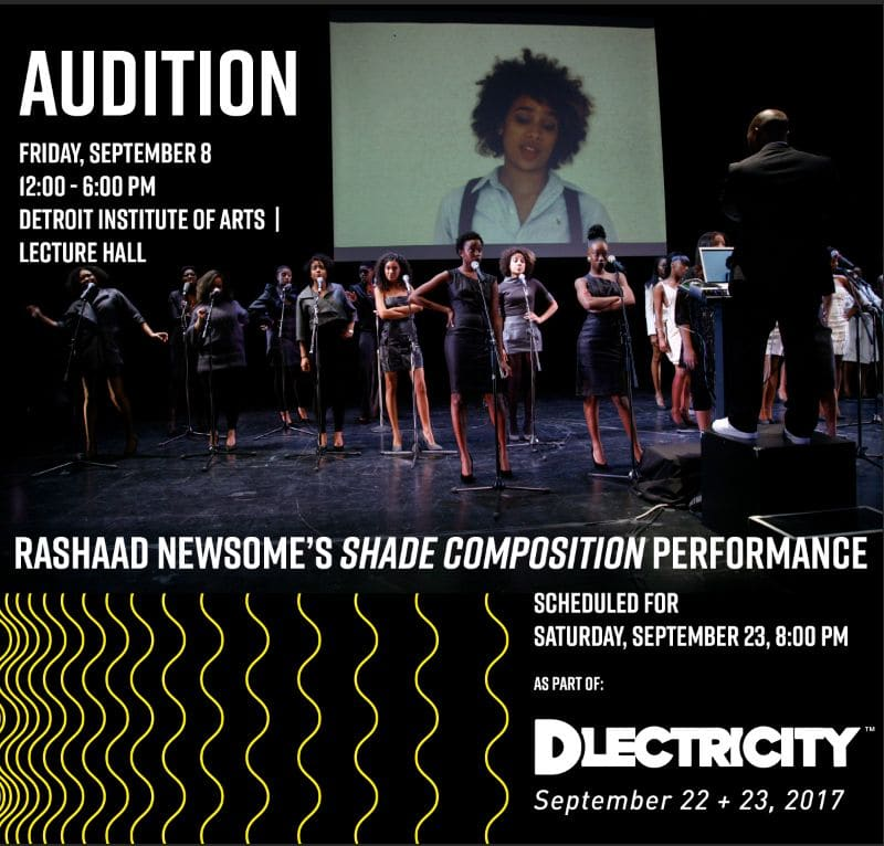 Rashaad Newsome Audition for Shade Composition scheduled for September 8